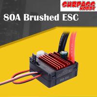 SURPASSHOBBY 80A Brushed ESC for RC 5-Slot 550 Brushed Motor for 1/10 RC Car