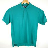 Vintage LeVIs Mens Size L-XL Turquoise 2 Button Short Sleeve Polo 80s-90s