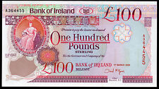 More details for real bank of ireland ltd belfast £100 banknote  1992 1995  2005 vf++ aunc unc