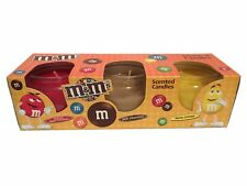 M&M's Scented Candle Set of 3 x 85g Apple Cinnamon Milk Chocolate Nutty Lemon