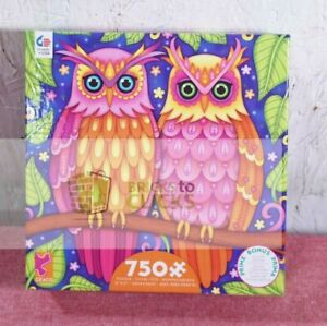 """Ceaco Groovy Animals: Owls Puzzle 750pc, 21"""" x 21"""""""