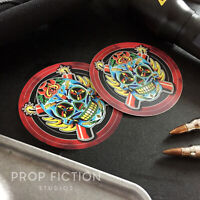 The Expendables - Pair of Prop Sugar Skull Set Dressing / Vehicle Case Decals