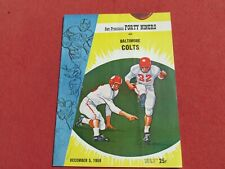 1959 SAN FRANCISCO FORTY NINER'S vs Baltimore Colts  NFL PROGRAM Kezar