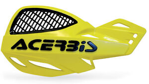 ACERBIS UNIKO VENTED HANDGUARDS YELLOW BLACK MOTOCROSS MX ENDURO CHEAP PAIR KIT