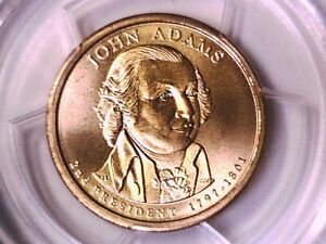 2007 D John Adams Dollar PCGS MS 68 Position B Satin Finish 12291573