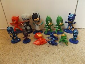 PJ Masks Characters on stands and 3 pencil toppers