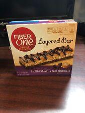 2 X Fiber One, Salted Caramel & Dark Chocolate Layered Chewy Bars, Exp 2/19