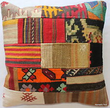 (50*50cm, 20inch) Authentic vintage handwoven kilim cushion cover patchwork 2