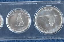 1967 Canada Centennial Year BU 6 Coin Silver Set in Whitman Lucite E0728
