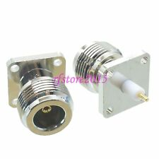1pce Connector N female jack 4-holes Flange PTFE solder Panel mount RF COAXIAL