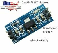 2 x AMS1117 5V (4.5-7V) Turn To 3.3V DC-DC Step down Power Supply Module Arduino