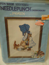 Fun with Needlepunch Embroidery by Paragon Holly Hobbie w Kittens UNOPENED