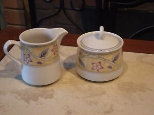 DISCONTINUED NEW NEVER USED Studio Nova SUSSEX covered sugar creamer set MIKASA