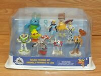 Genuine Disney Toy Story Deluxe Figurine 9 Piece Collectible Set **READ**