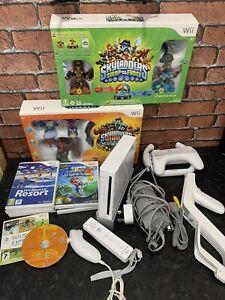 Wii Bundle Nintendo Wii Console,Games,1 Controller, Skylander Sets & Accessories