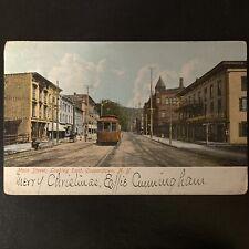 Vintage Antique 1906 Cooperstown New York Postcard Street Scene Main St
