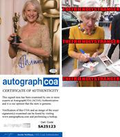 "Rare HELEN MIRREN signed Autographed ""OSCAR"" 8X10 Photo PROOF The Queen ACOA COA"