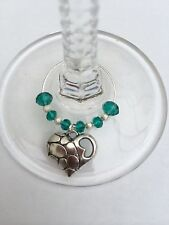 20 Emerald Wedding Wine Glass Charms. Favours,parties,gift
