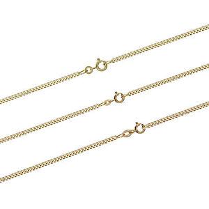 Panzerkette Massiv gelb Gold Kette Halskette Collier Echtschmuck Damen Herren