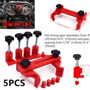 5xDual Cam Clamp Camshaft Engine Timing Locking Tool Powerful Sprocket Gear Kit