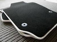 Original Lengenfelder Fußmatten passend für VW Eos + Rand Kunstleder WEISS + NEU