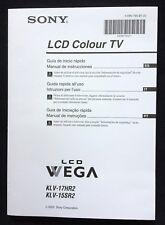 Operation Manual ★ SONY Colour TV KLV-17HR2 ★ KLV-15SR2 Span. / Ital. / Portug.!