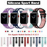 Silicone Sports Band Strap for Apple Watch Series 5 4 3 iWatch 38 40 42 44 Bands