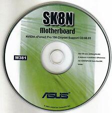 ASUS SK8N Motherboard Drivers Installation Disk M381