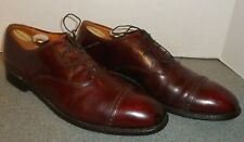 ALDEN 905 BURGUNDY LEATHER PERF CAP TOE OXFORDS SIZE 12.5 AAA/A! FREE SHIPPING!