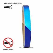 "1 Roll Blue 1/2"" x 30 feet Reflective Engineering Grade Tape Pinstripe"