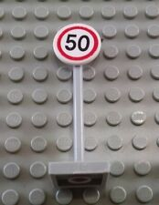 LEGO White City 50 Speed Limit Road Street Sign