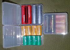 """3 Box Conten. Plastica rigida """"Soshine"""" per 4 Batterie 18650 anche altri Formati"""