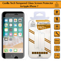 2 Pack iPhone 7 Genuine Premium Gorilla Tempered Glass Shield Screen Protector