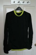 Russell Athletic Mens Sports Performance Top - Black/Neon - Size Medium