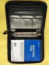 A5 (standard Organizzatore) Cerniera Conferenza Raccoglitore ad anelli 9988N-C 4 Anelli D NERO