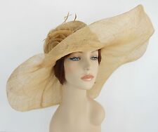 New Church Kentucky Derby Sinamay Wide Brim Dress Hat cc10-290 Lime Green