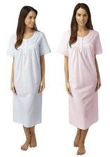 Cotton Blend Patternless Everyday Nightwear for Women