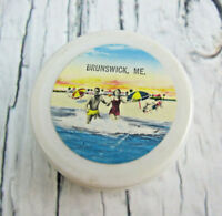 Brunswick Maine Vintage Plastic Collapsible Travel Cup Souvenir Beach Ocean