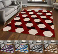 Large Geometric Rugs For Living Room Bedroom Area Carpets Hallway Runners Mat UK