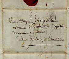 1798 Lettre BOURBON Vauban Paris rue Traversière à Trémentines notaire RIGALLEAU
