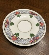 VINTAGE DELFT POLYCHROME HAND PAINTED SAUCER, HOLLAND ART POTTERY
