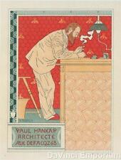 Paul Hankar Architecte Poster Fine Art Lithograph Adolphe Crespin S2