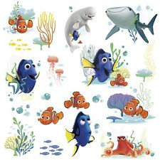 DISNEY FINDING DORY 19 Wall Decals Nemo Bailey Fish Room Decor Stickers Bathroom