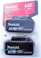 2 NEW GENUINE MAKITA IN PACKAGE 18V BL1830B-2 Batteries 3.0 AH Fuel Gauge BL1830