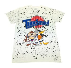 Space Jam Tune Squad Bugs Bunny Taz Daffy Duck Speckled Front Men's T Shirt
