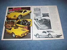 1982 Kelmark GT Custom Kit Car Vintage Article