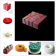 3D Cake Mold Silicone Cupcake Baking Pan Chocolate Mousse Mould DIY Bakeware