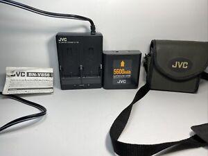 JVC Extended Use Battery BN-V856U & Adapter Charger AA-V80U   110/240V