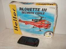 Heller Alouette 111,Securite Civile Modell Bausatz & Handwerk set in 1:72