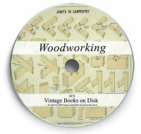 Woodworking Carpentry Rare Books on DVD - Joinery Wood Turning Lathe Carving C9